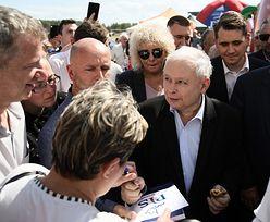 Jarosław Kaczyński na pikniku: sądy są całkowicie pod wpływem ideologii LGBT