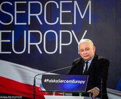 """Kaczyński: """"Będą surowe kary za pedofilię. Rejestrowi pedofilów sprzeciwiała się PO""""."""