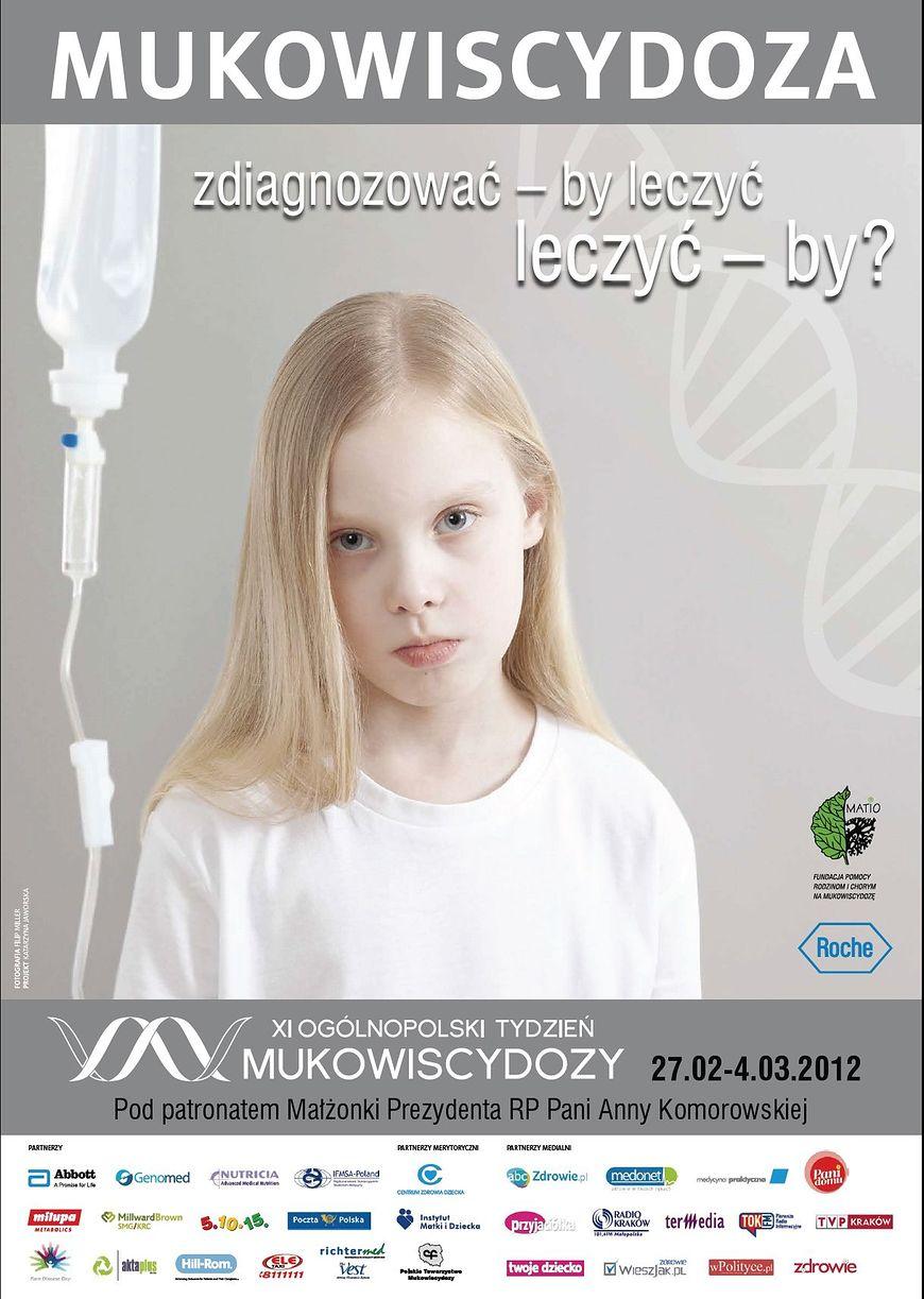 Plakat dotyczący Tygodnia Mukowiscydozy