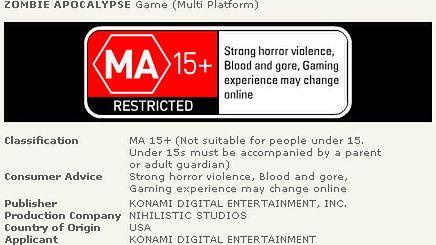 Konami dostarczy nam Zombie Apocalypse