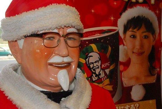 Japończycy w czasie świąt uwielbiają zajadać się kurczakiem z KFC