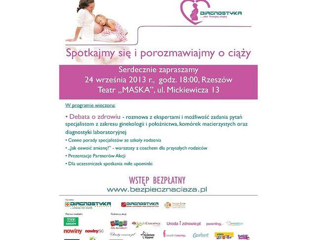 """Plakat: """"Diagnostyka dla Twojej ciąży"""" - Rzeszów"""