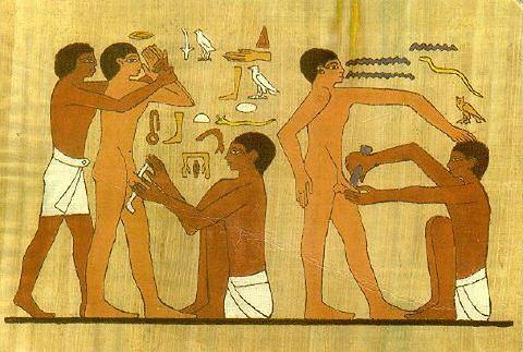 Zabieg obrzezania - starożytne malowidła