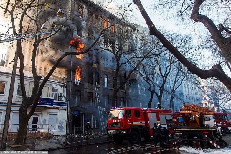 Ukraina. Pożar szkoły w Odessie. Ogłoszono żałobę narodową