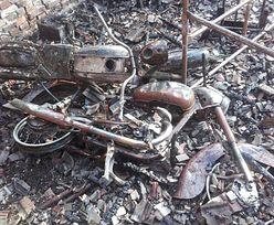 Pożar wielkiej kolekcji motocykli i militariów