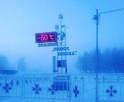 W Rosji temperatura spadła do -50 stopni. Nawet nie odwołali lekcji