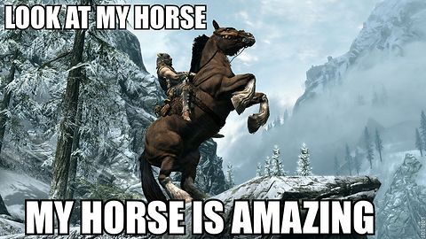Niemożliwe! W Skyrim wreszcie będzie można prowadzić walkę konno