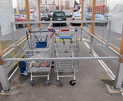 Tesco ma już dość znikających wózków. Straszy klientów więzieniem