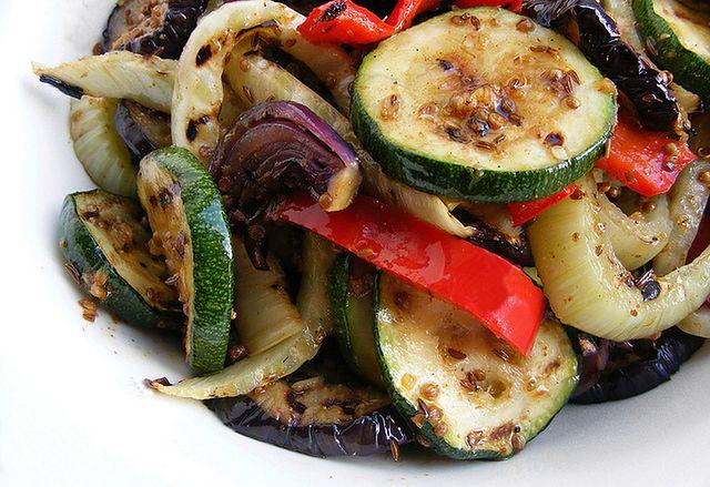 Porcja pieczonych warzyw