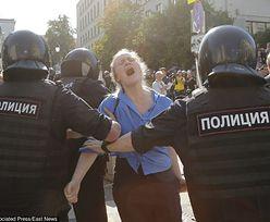 Rosja. Aktywiści o demonstracji opozycji: 1373 osób zatrzymanych, 77 pobitych
