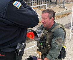 Policjant superbohaterem. Przebiegł maraton, uratował życie, na koniec się oświadczył
