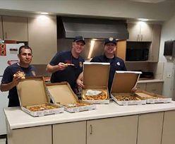 Strażak pomylił restauracje. Zamówił pizzę z innego kraju